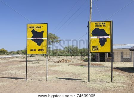 Equator Crossing In Kenya