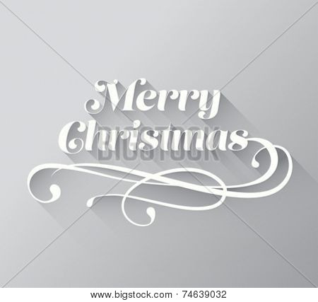 Digitally generated Merry christmas cursive message vector