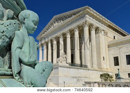 Supreme Court Building architectural details - Washington DC, United States of America