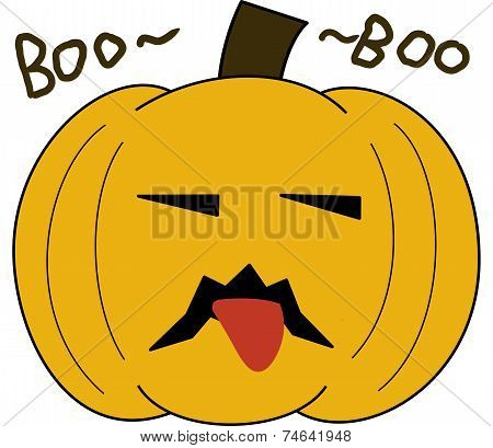 pumpkin face cartoon emotion expression boo