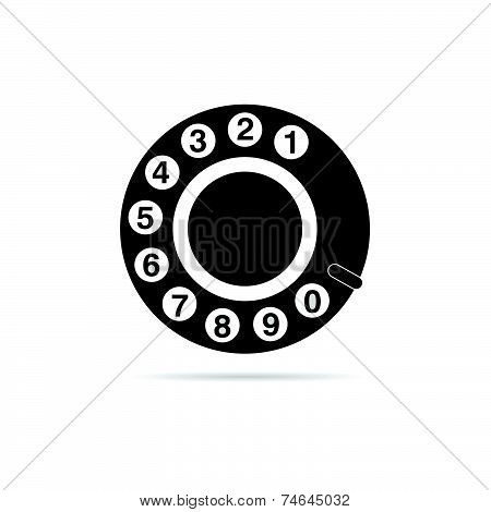 Old Phone Dialer Icon Vector Illustration