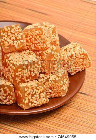 Turkish Sweet Delights In Sesam Seeds