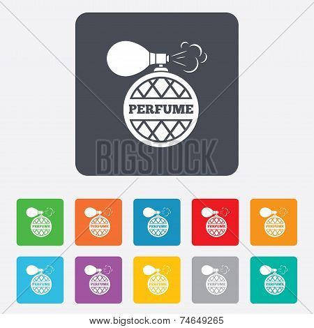Perfume bottle sign icon