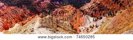 Panorama, Fantasticly Eroded Red Navajo Sandstone