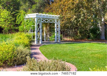 Garden Trellis And Path