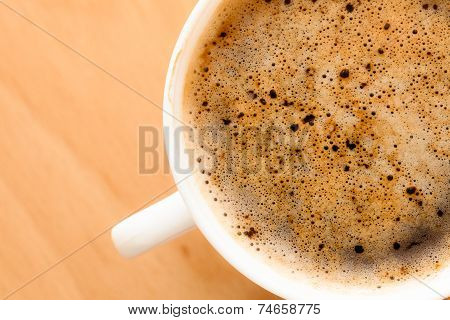 Beverage. Cup Of Hot Drink Coffee With Froth.
