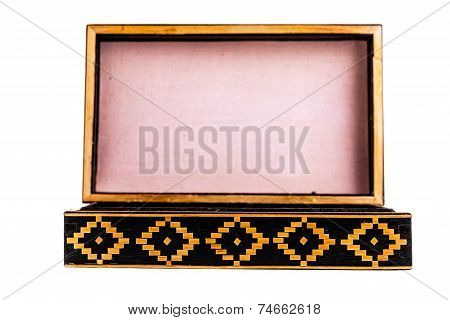 Open Vintage Wooden Box