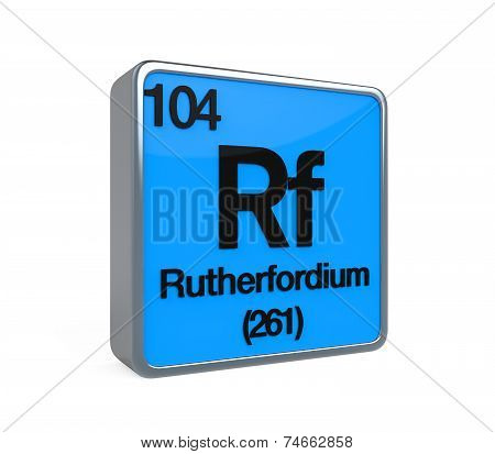 Rutherfordium Element Periodic Table