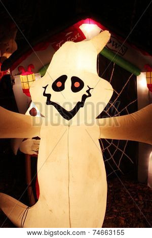 Inflatable  Halloween figurine in a dark
