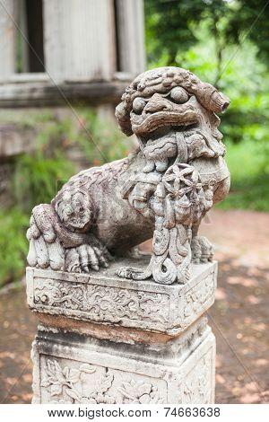 Chinese Lion Stone Statue