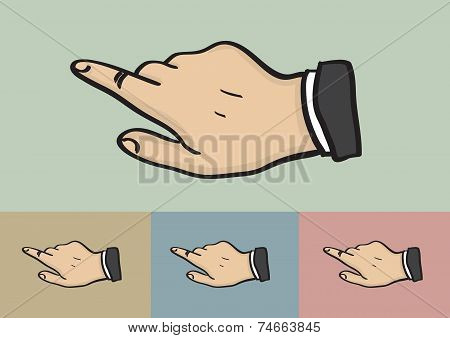 Click Hand Gesture On Different Color Background