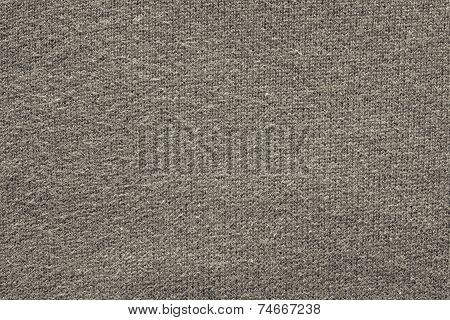 Texture From A Wool Yarn Of Beige Gray Color