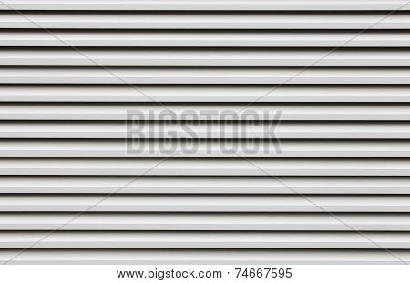 Silver white corrugated zinc metal texture and background