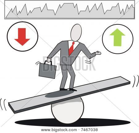 Business balance cartoon