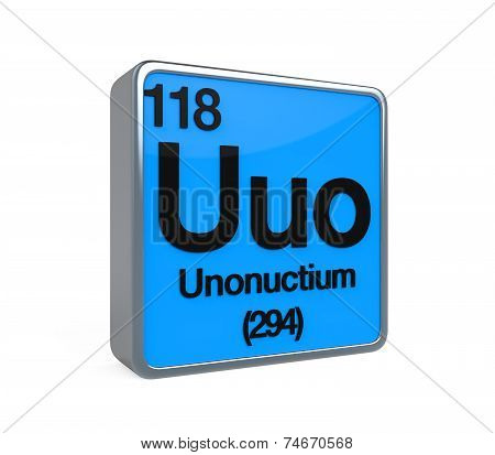 Unonuctium Element Periodic Table