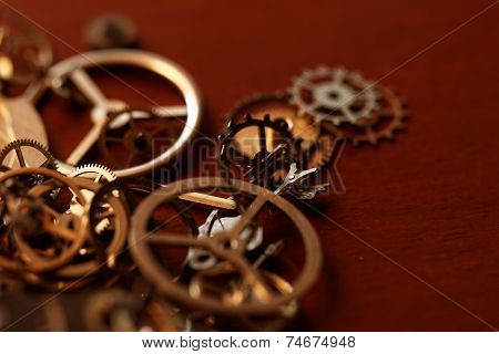 Small Parts Of Clock