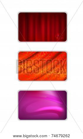 Abstract Red Tones Drapery Background Set