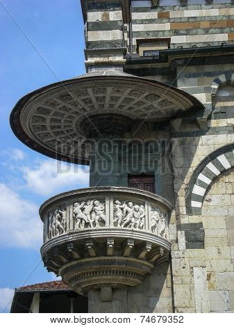 Prato (Tuscany, Italy) - Cathedral, the external pulpit by Donatello