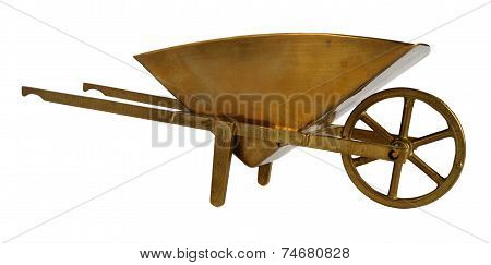 Brass Wheelbarrow