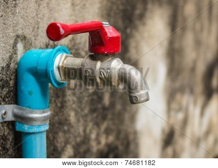 Faucet On A Wall
