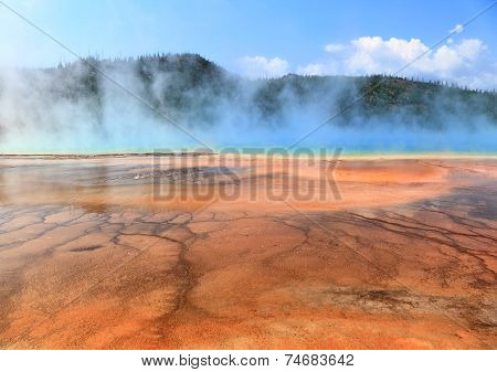 Grand Prismatic Spring ,Yellowstone