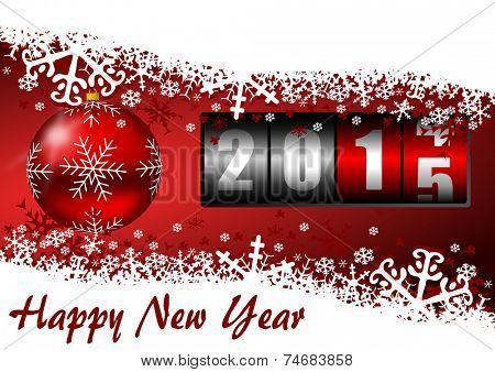 happy new year 2015 illustration with counter