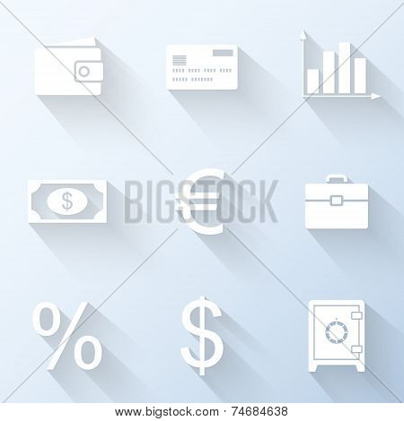 Flat Business Icons. Vector Illustration