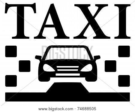 black taxi icon