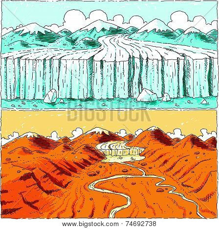 Global Warming Glacier