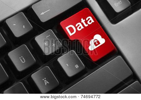 Keyboard Red Enter Button Data Cloud Security