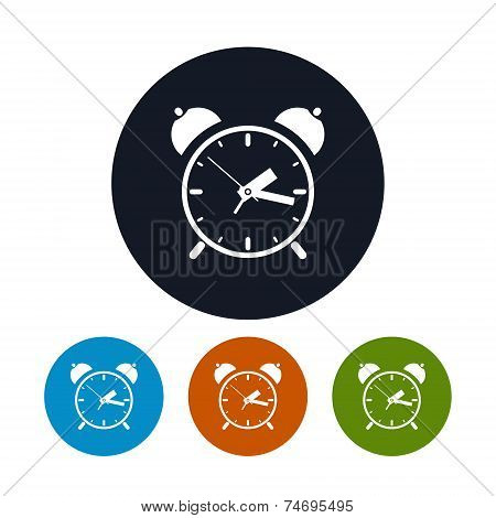 The Alarm Clock Icon, Vector Illustration