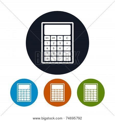Calculator Icon,  Vector Illustration