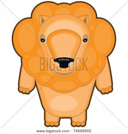 cartoon illustration of a baby lion