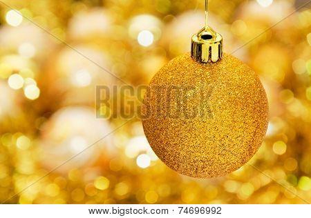 Gold Christmass Ball