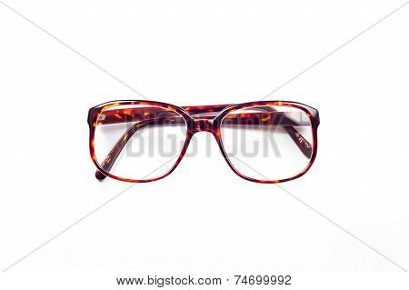 Eyeglasses with plastic frame