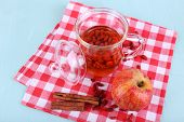 picture of chinese checkers  - Goji berries drink in glass cup - JPG