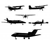 foto of ultralight  - airplane silhouettes - JPG