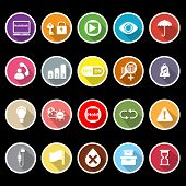 stock photo of time machine  - Home use machine sign flat icons with long shadow stock vector - JPG