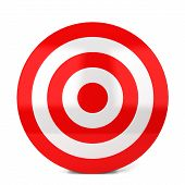 pic of archery  - Red target - JPG