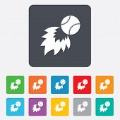 stock photo of fireball  - Baseball fireball sign icon - JPG