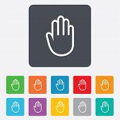 foto of no entry  - Hand sign icon - JPG