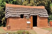 foto of mud-hut  - Hartebeeshuis literally translated means Hartebeest house - JPG