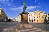 foto of duke  - Early morning photo of Duke Richelieu statue in Odessa Ukraine - JPG