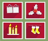 pic of rudolph  - Set of elements for Christmas and New Year greeting cards - JPG