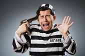 pic of inmate  - Funny prison inmate with gun - JPG