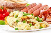 stock photo of bacon strips  - English breakfast  - JPG