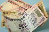 stock photo of mahatma gandhi  - indian currency banknotes - JPG