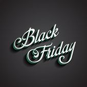 stock photo of friday  - Black Friday type calligraphic typography - JPG