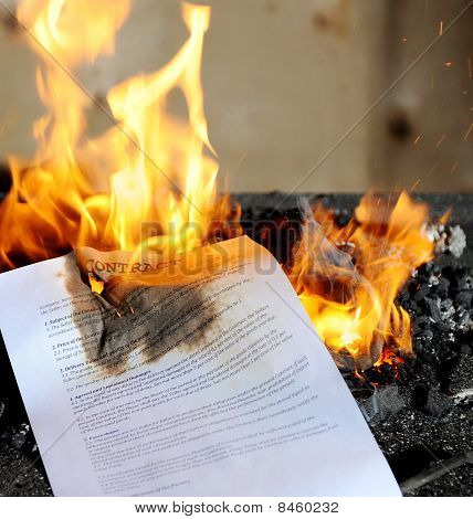 Burning  Contract