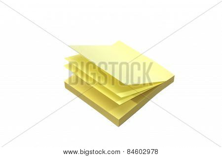 Yellow Sticky Note Paper Pack